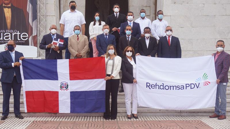 Realiza Refinería Dominicana de Petróleo ofrenda floral 177 aniversario Independencia Dominicana
