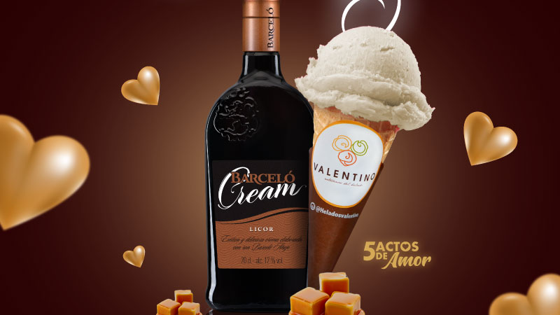Presentan Ron Barceló y Helados Valentino nuevo sabor helado