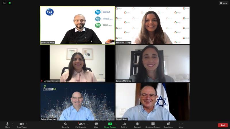 Desarrolla ANJE panel recuperación económica con expertos internacionales y embajador Israel en Dominicana